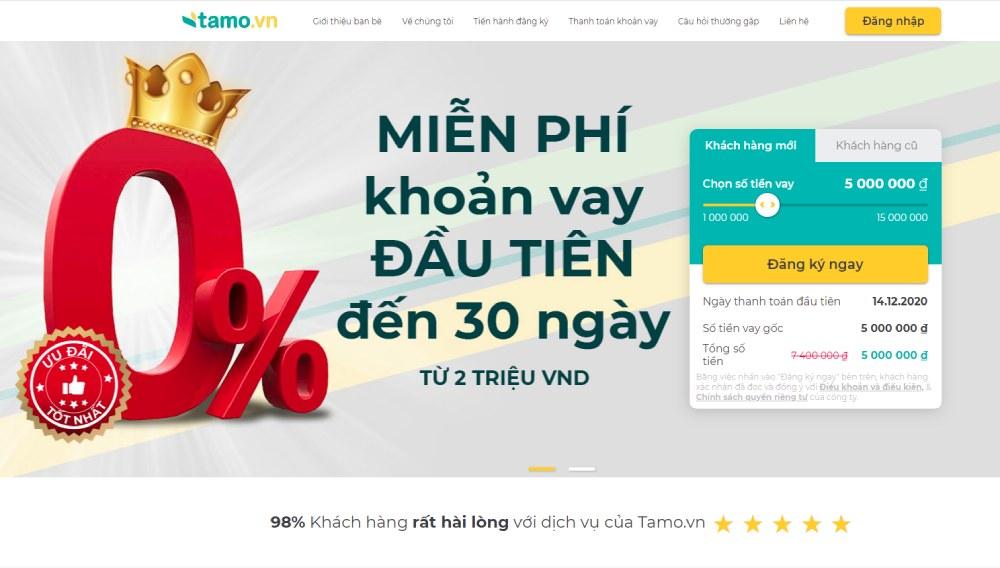 Hướng dẫn vay tiền nhanh Tamo