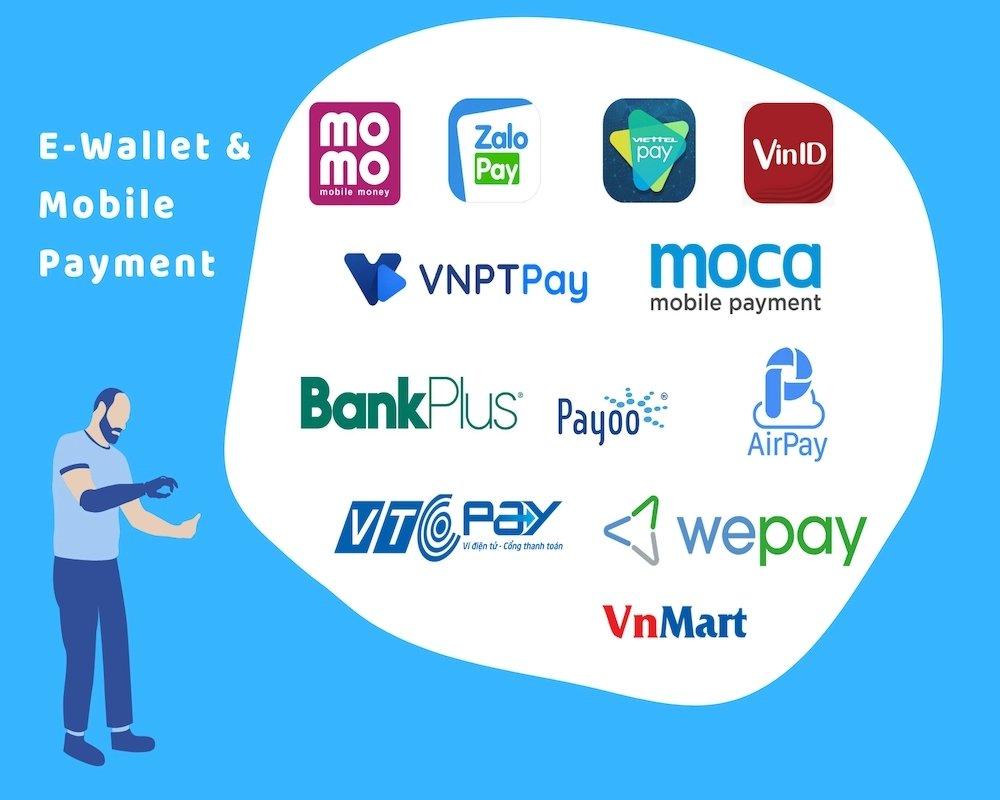 Các ví điện tử phổ biến tại Việt Nam