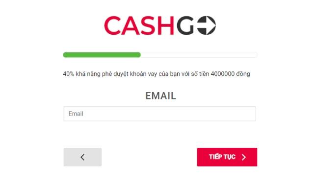 Hướng dẫn vay tiền CashGo